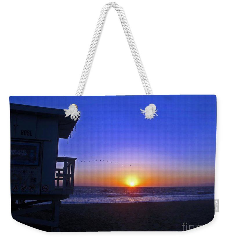 Beach Weekender Tote Bag featuring the photograph Sunset In Venice by Kelly Holm