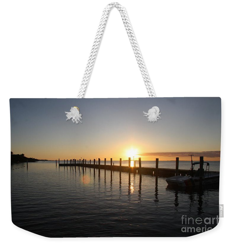 Sunset Weekender Tote Bag featuring the photograph Sunset On Key Largo by Christiane Schulze Art And Photography