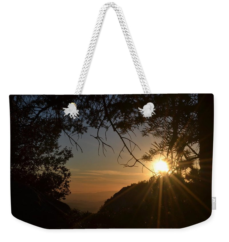 Sunset Weekender Tote Bag featuring the photograph Sunset On San Jacinto by Christine Owens