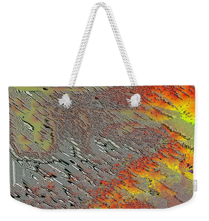 Abstract Weekender Tote Bag featuring the digital art Sunset On The Beach Sand by Jack Bowman
