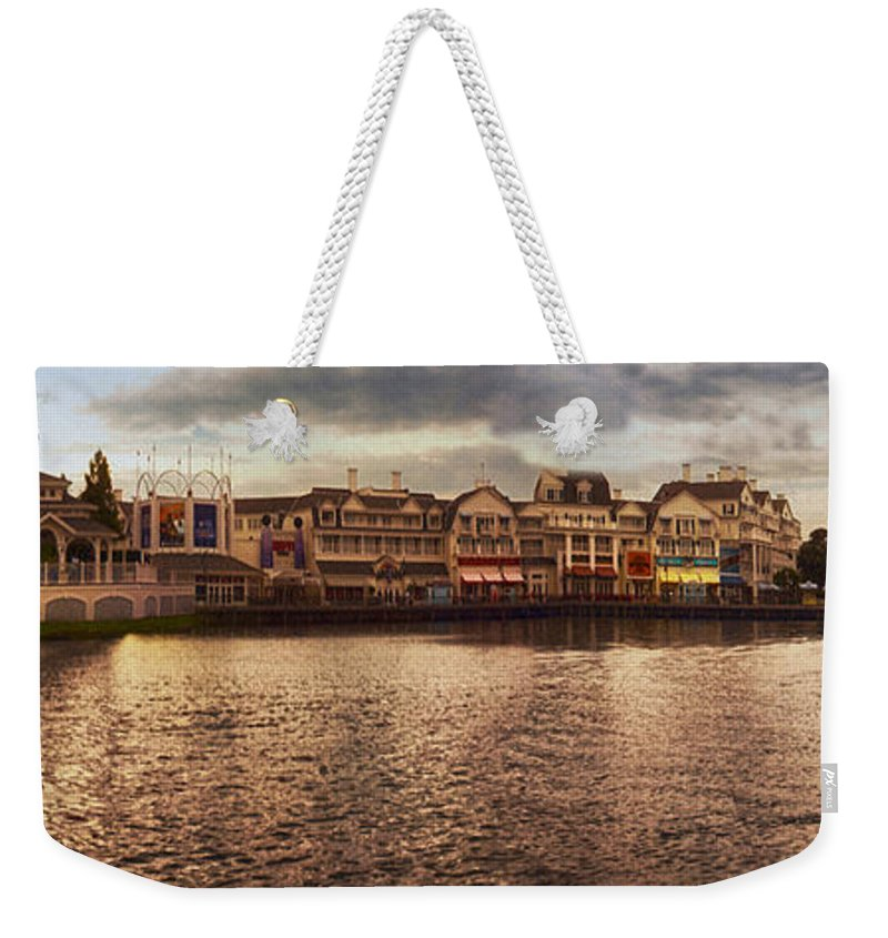 Boardwalk Weekender Tote Bag featuring the photograph Sunset On The Boardwalk Walt Disney World by Thomas Woolworth