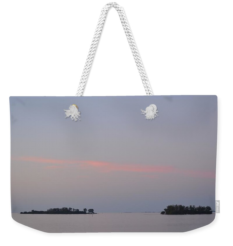 Florida Weekender Tote Bag featuring the photograph Sunset On The Gulf Of Mexico by Linda Kerkau