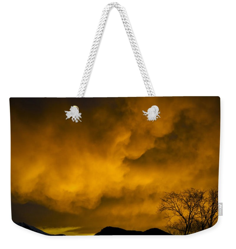 Sunset Over Manitou Springs Colorado Weekender Tote Bag featuring the photograph Sunset Over Manitou Springs Colorado by Greg Reed