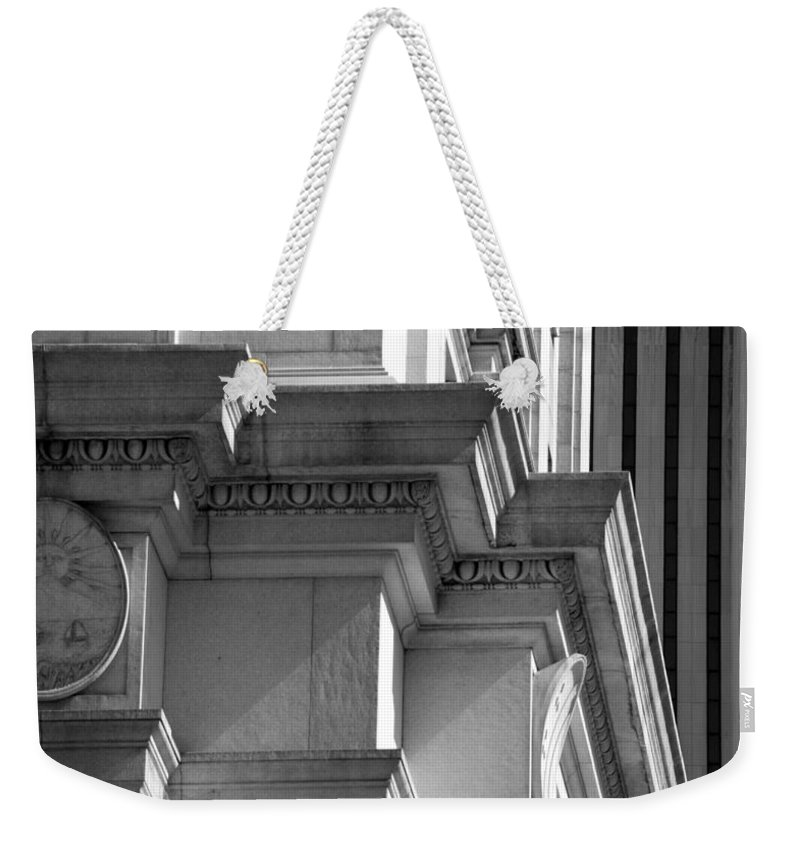 Black And White Weekender Tote Bag featuring the photograph Sunset by Rob Hans