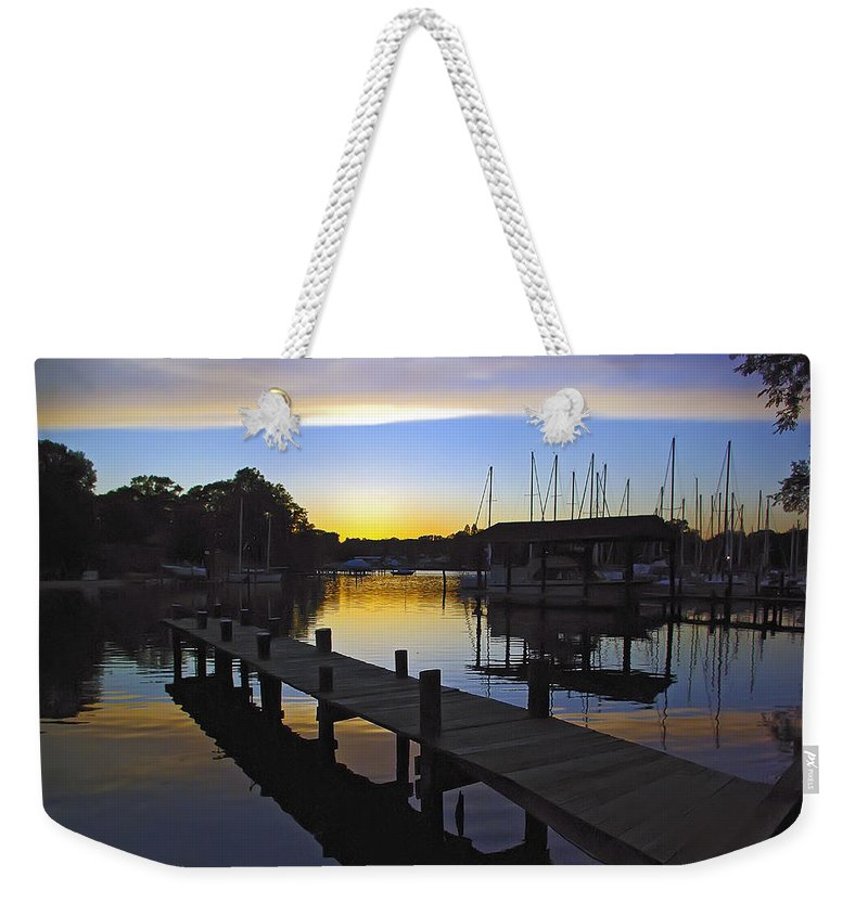2d Weekender Tote Bag featuring the photograph Sunset Silhouette by Brian Wallace