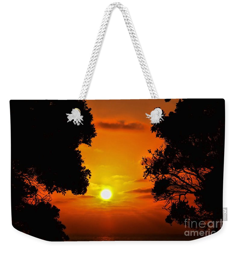 Sunset Weekender Tote Bag featuring the photograph Sunset Silhouette By Diana Sainz by Diana Raquel Sainz