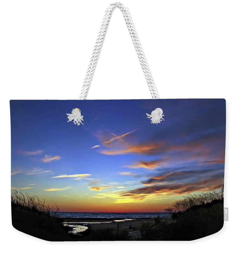 Sauble Beach Weekender Tote Bag featuring the photograph Sunset X by Steve Harrington