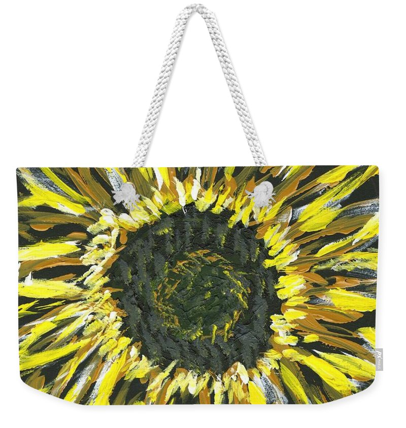 Flower Weekender Tote Bag featuring the painting Sunshine by Alice Faber