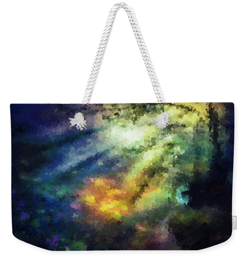 Sunshine Weekender Tote Bag featuring the painting Sunshine Forest by Samuel Majcen