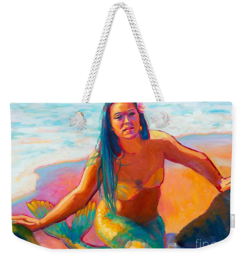 Mermaid Weekender Tote Bag featuring the painting Sunshine by Isa Maria