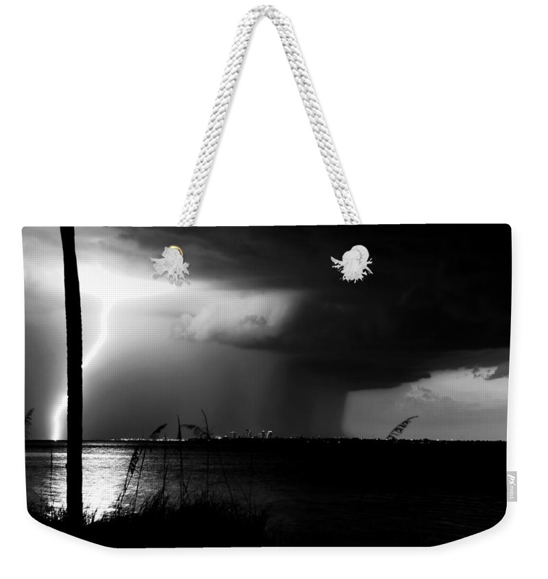 Severe Weather Weekender Tote Bag featuring the photograph Super Cell Over Tampa Bay by David Lee Thompson