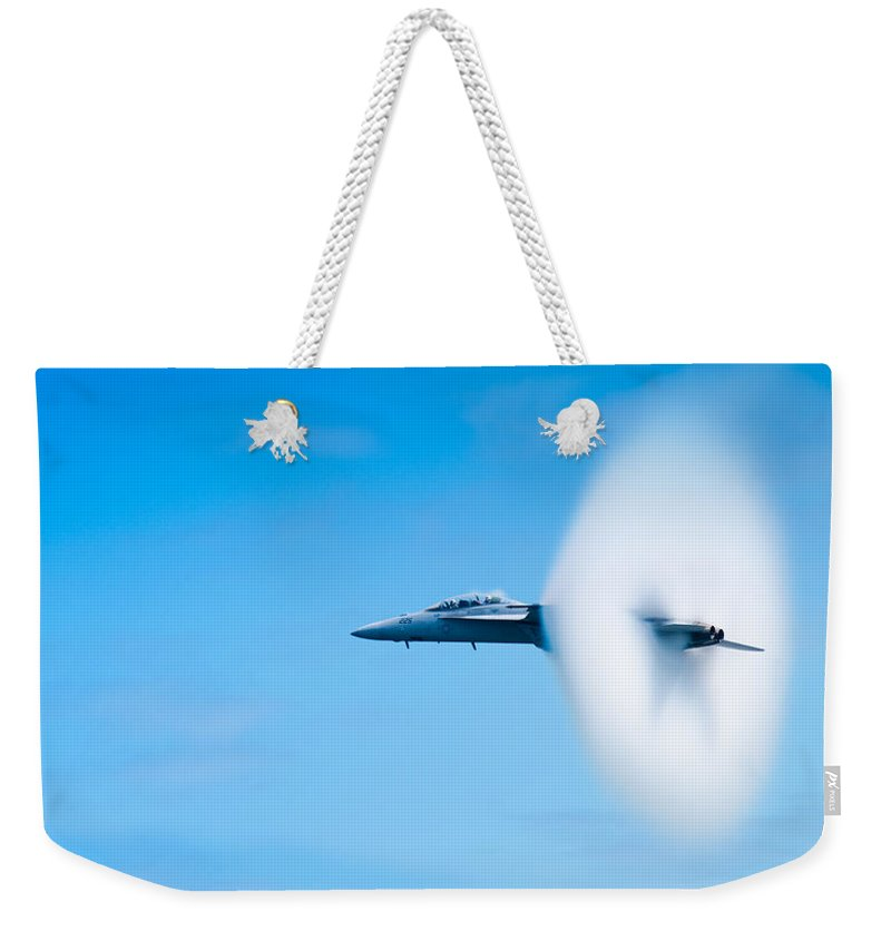 F18 Weekender Tote Bag featuring the photograph Super Sonic by Sebastian Musial