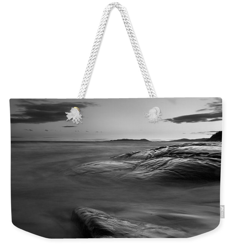 Lake Superior Weekender Tote Bag featuring the photograph Superior Crescent  by Doug Gibbons