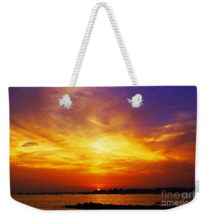 Sun Weekender Tote Bag featuring the photograph Supersaturated Solution by Joe Geraci