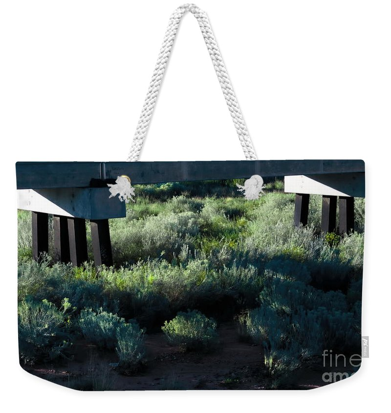 Digital Color Photo Weekender Tote Bag featuring the digital art Supported by Tim Richards