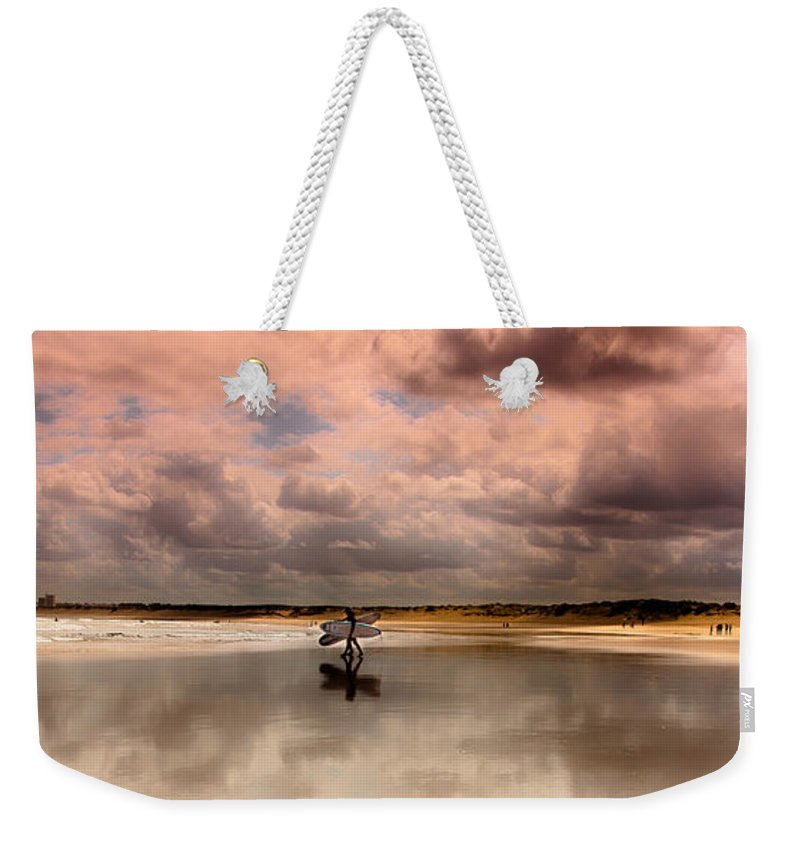 Surfing Day Weekender Tote Bag featuring the photograph Surf Day by Edgar Laureano