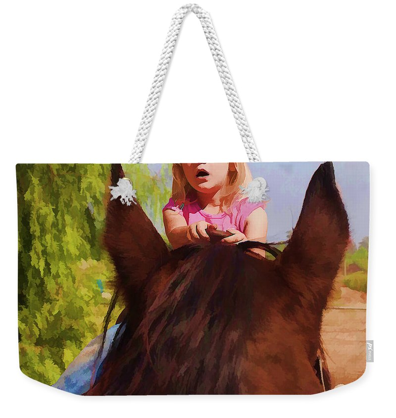 Children Weekender Tote Bag featuring the photograph Surprise by Tommy Anderson