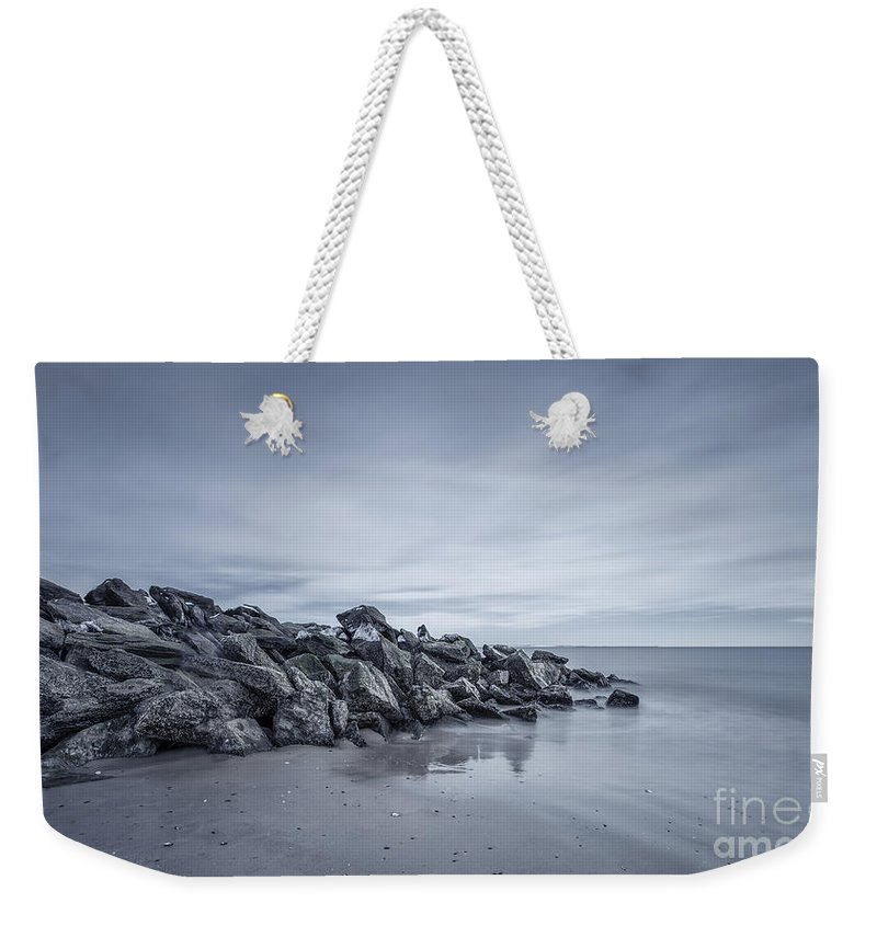 Brighton Beach Weekender Tote Bag featuring the photograph Surrender To The Sea by Evelina Kremsdorf