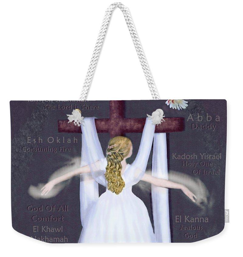 Prophetic Weekender Tote Bag featuring the digital art Surrender 2 by Constance Woods