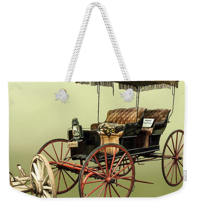 Surrey Weekender Tote Bag featuring the photograph Surrey With The Fringe On Top by Norman Johnson