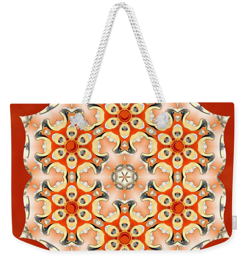 Sacredlife Mandalas Weekender Tote Bag featuring the digital art Svadhisthana Glory by Derek Gedney