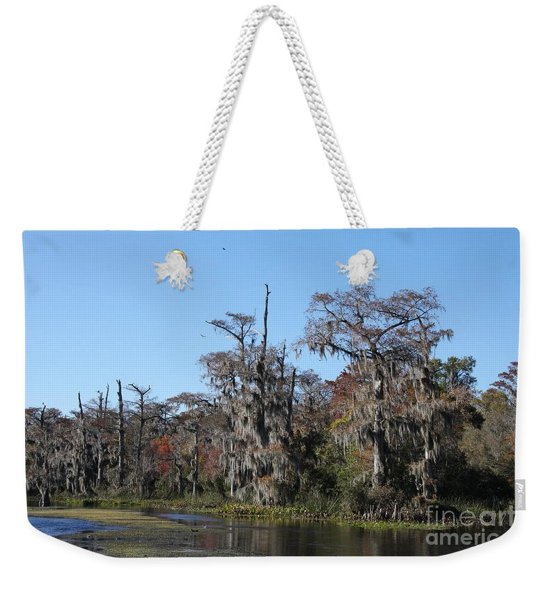 Swamp Weekender Tote Bag featuring the photograph Swamp Serenity by Christiane Schulze Art And Photography
