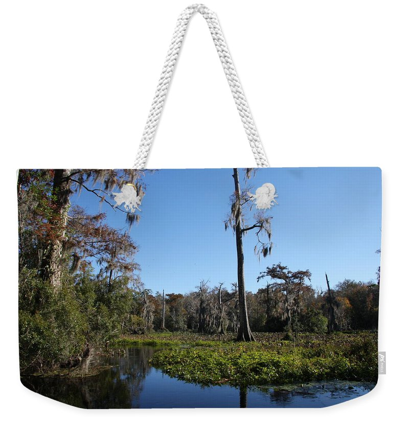 Swamp Weekender Tote Bag featuring the photograph Don't Leave Me Behind by Christiane Schulze Art And Photography