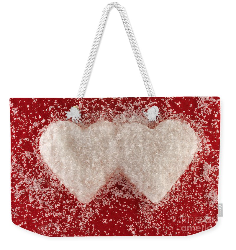 Sugar Weekender Tote Bag featuring the photograph Sweet Hearts by Grigorios Moraitis