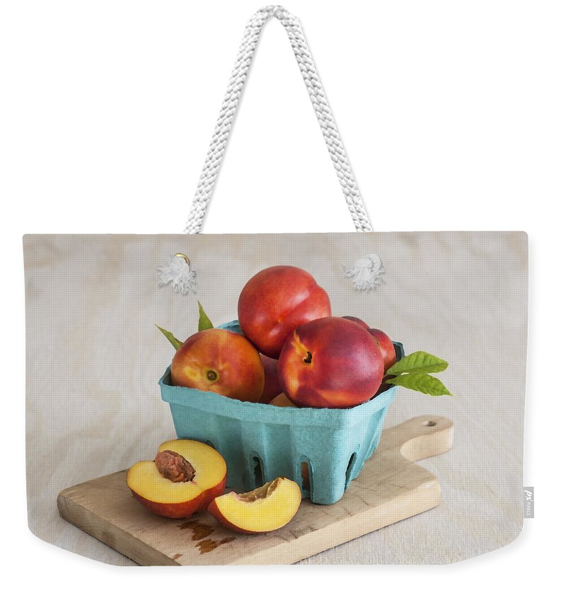 Nectarines Weekender Tote Bag featuring the photograph Sweet Nectarines by Rich Franco