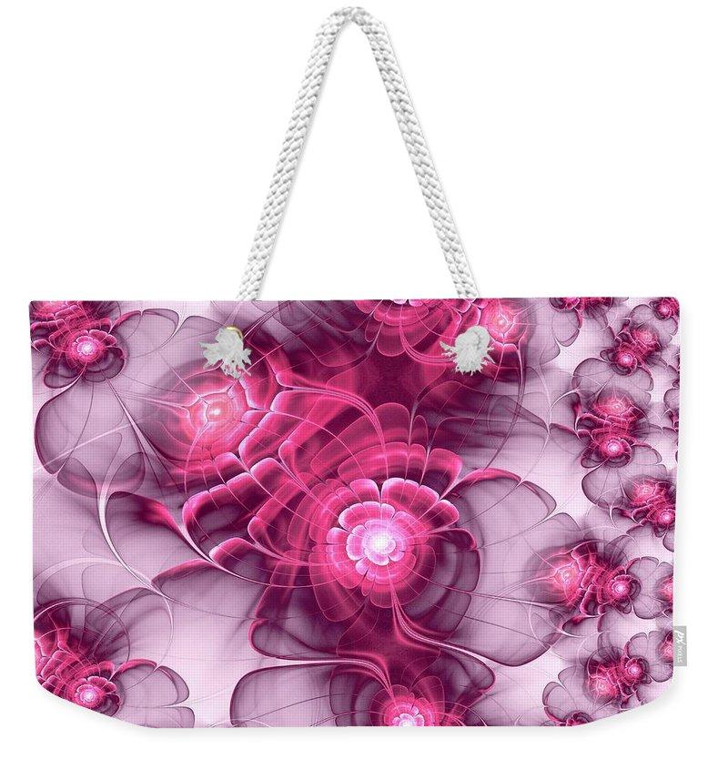 Plant Weekender Tote Bag featuring the digital art Sweet Sakura by Anastasiya Malakhova