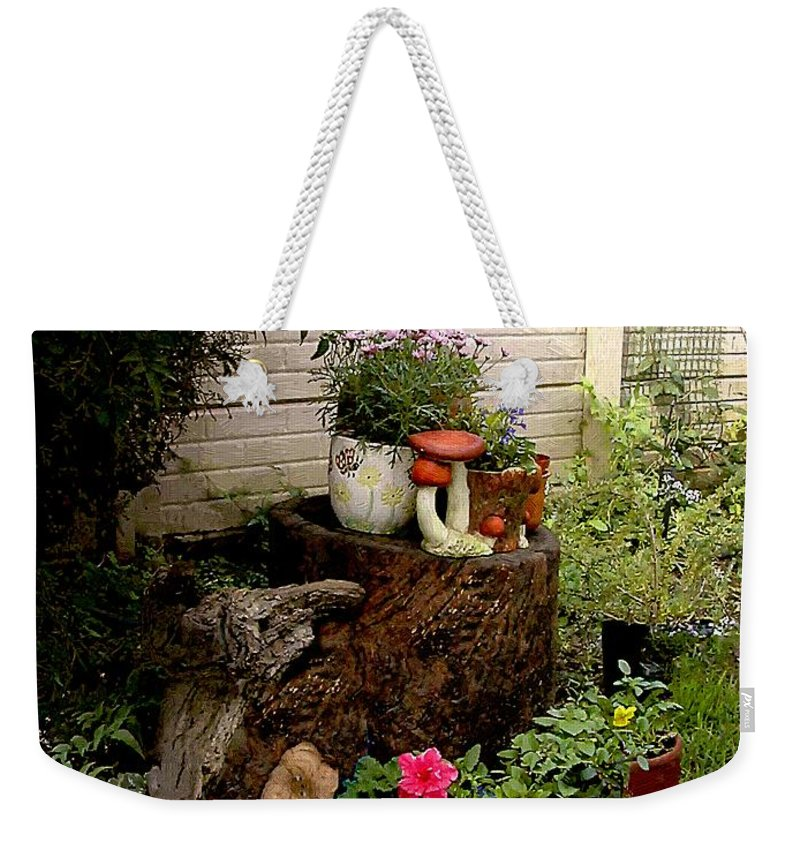 Flora Weekender Tote Bag featuring the painting Sweet Spot by RC DeWinter