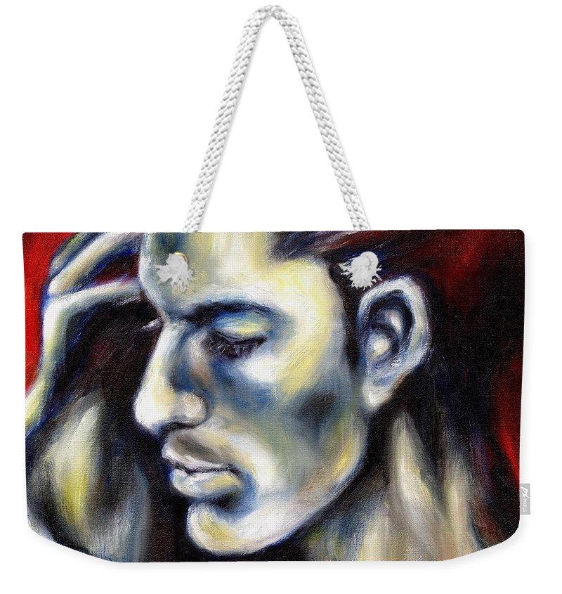 Man Weekender Tote Bag featuring the painting Sweetest Taboo by Hiroko Sakai