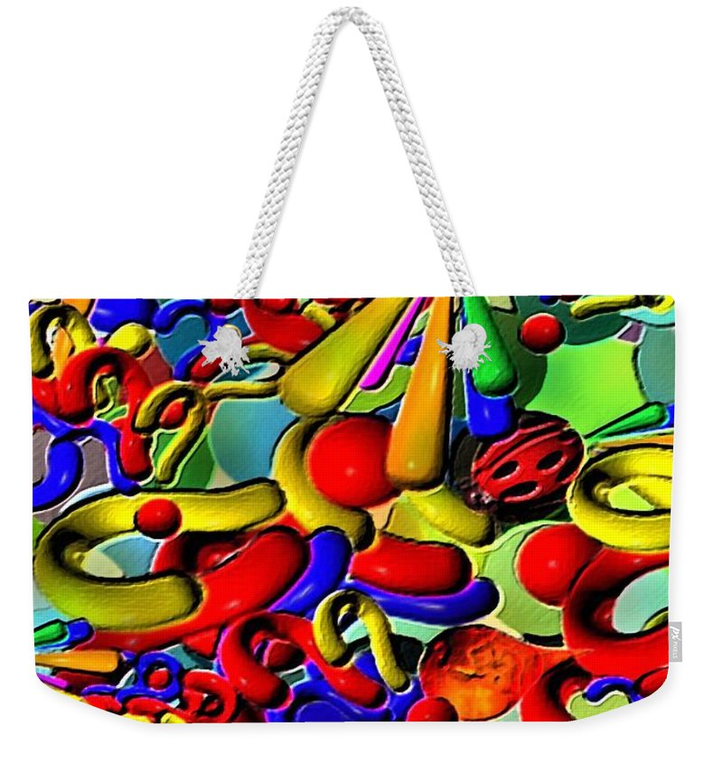 Contemporary Weekender Tote Bag featuring the painting Sweets By Rafi Talby  by Rafi Talby