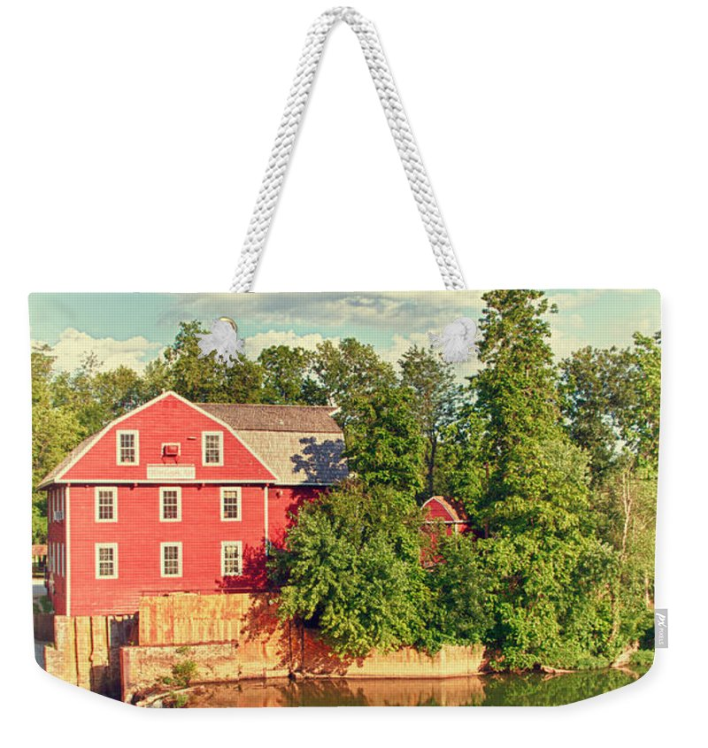 Landscape Weekender Tote Bag featuring the photograph Swimming At War Eagle by Robert Frederick
