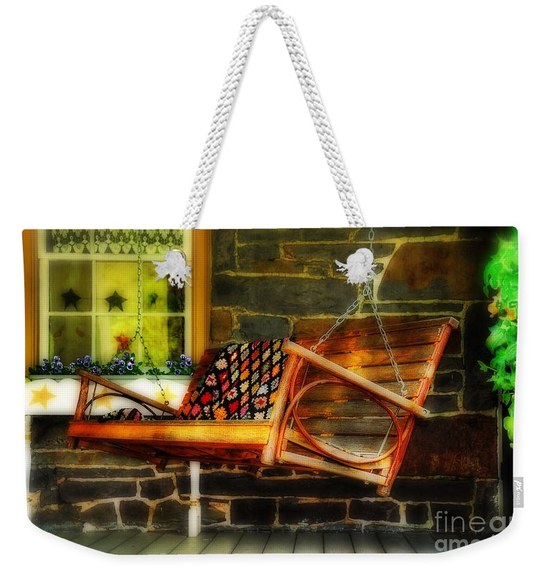 Swing Weekender Tote Bag featuring the photograph Swing Me by Lois Bryan