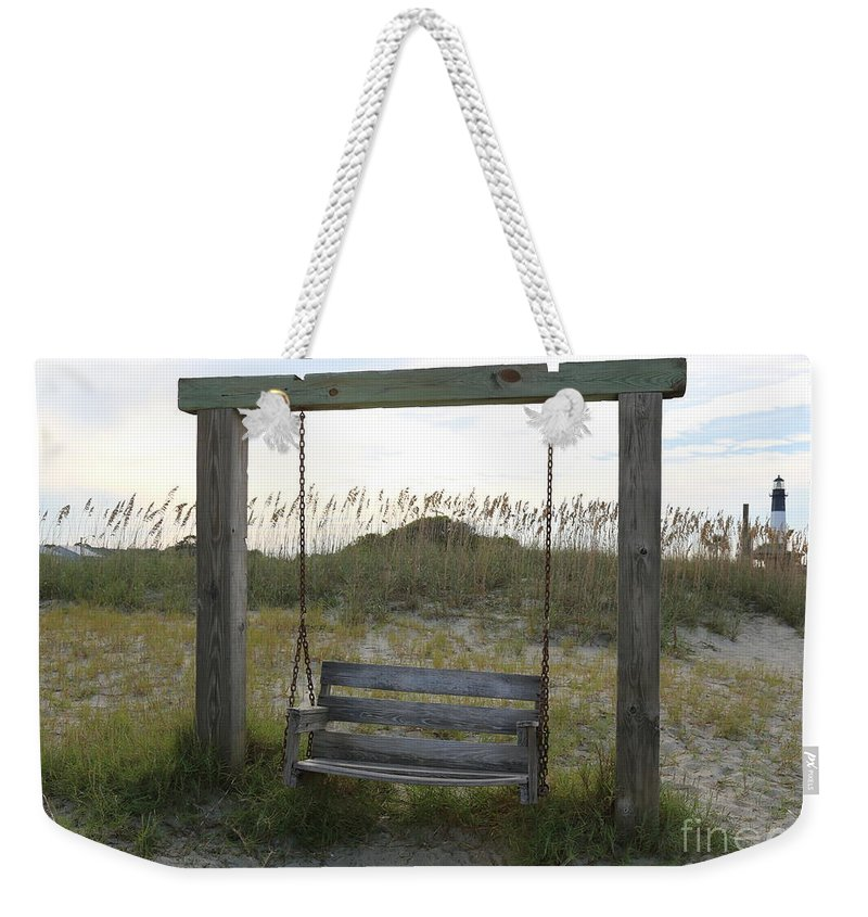 Beach Weekender Tote Bag featuring the photograph Swing On The Beach by Carol Groenen
