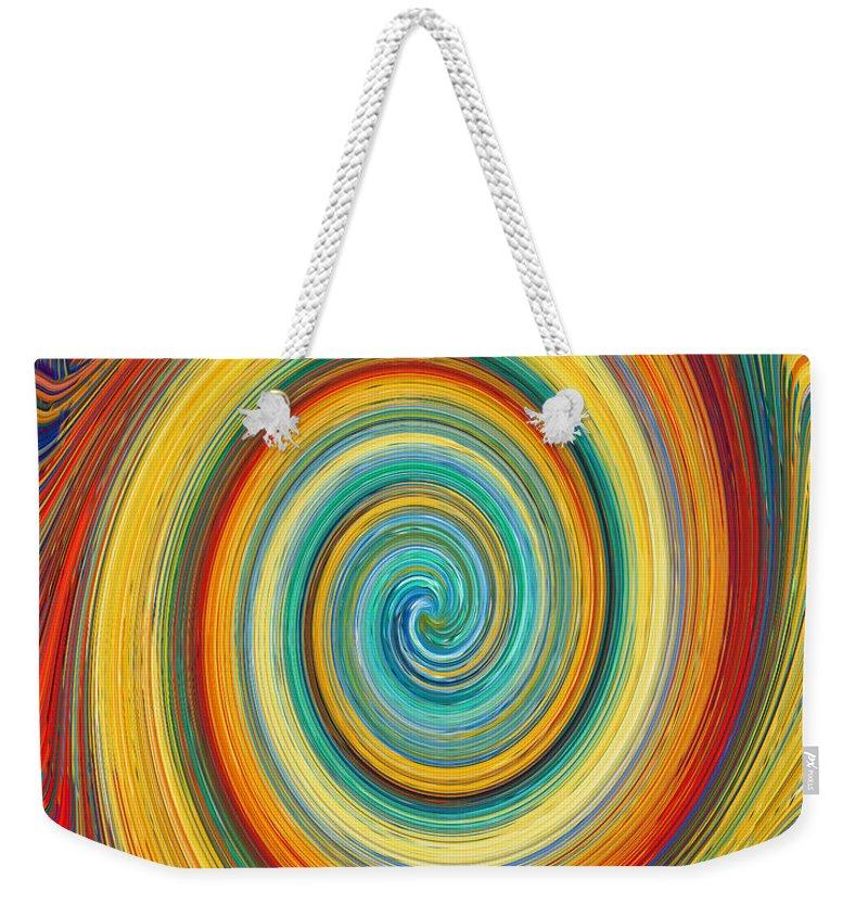Swirl Weekender Tote Bag featuring the painting Swirl 82 by Jeelan Clark