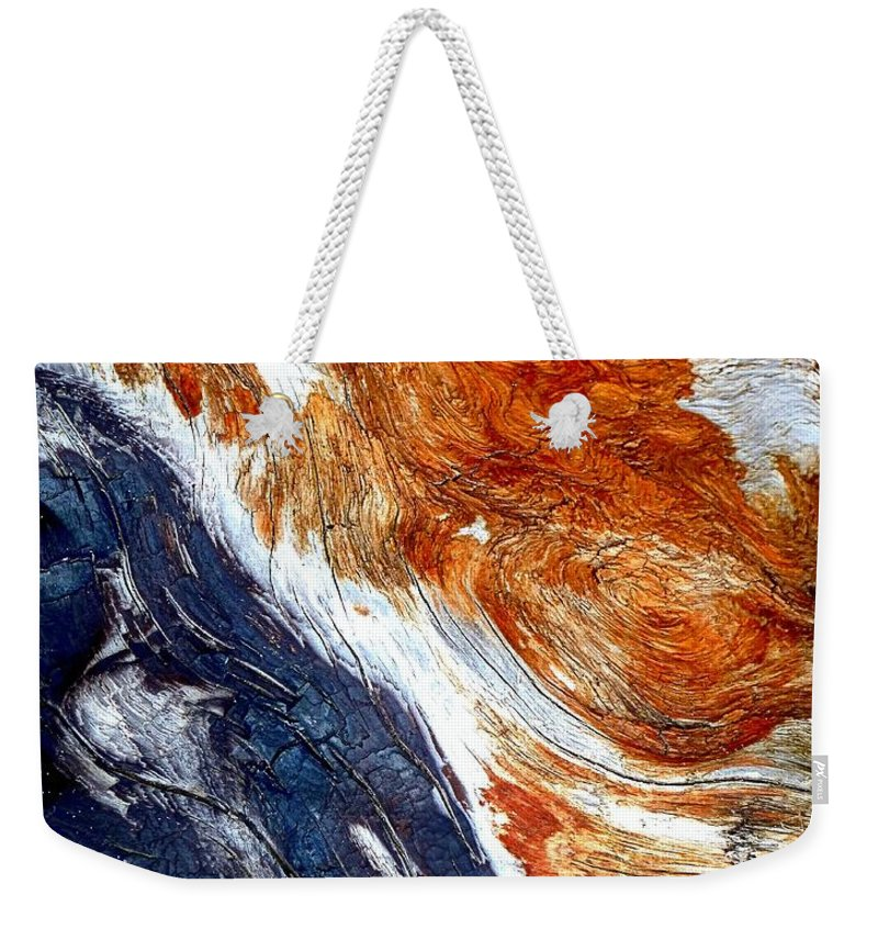 Abstract Weekender Tote Bag featuring the photograph Swirl by Lauren Leigh Hunter Fine Art Photography