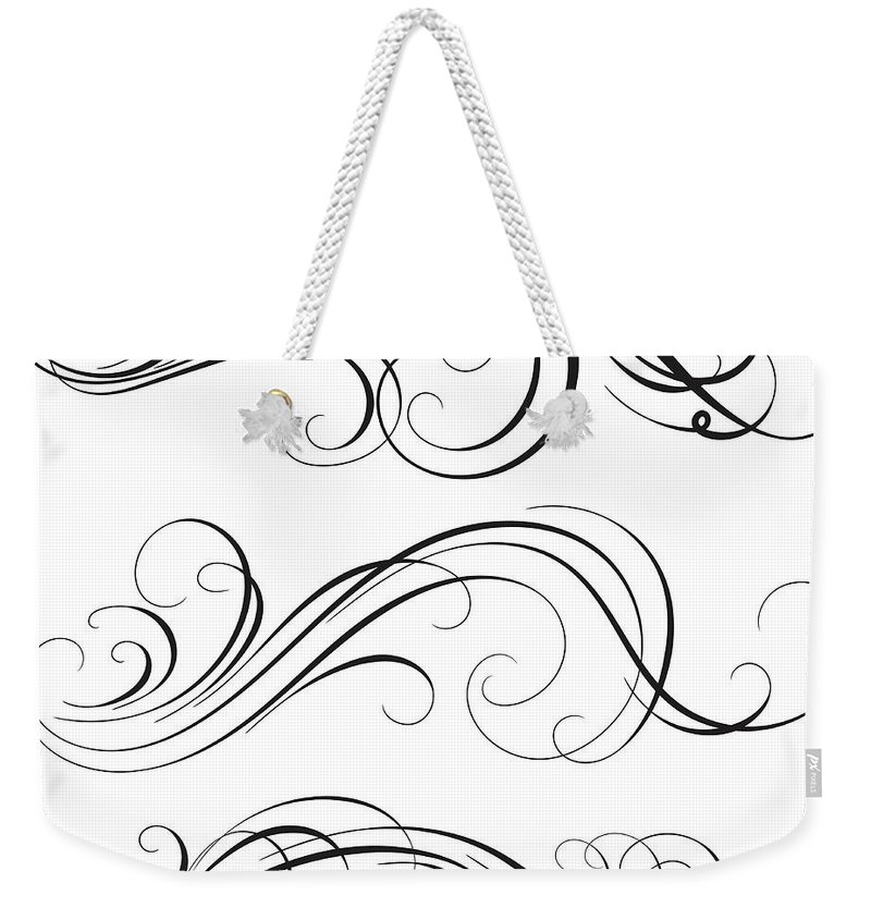 Curve Weekender Tote Bag featuring the digital art Swirl by Mashuk