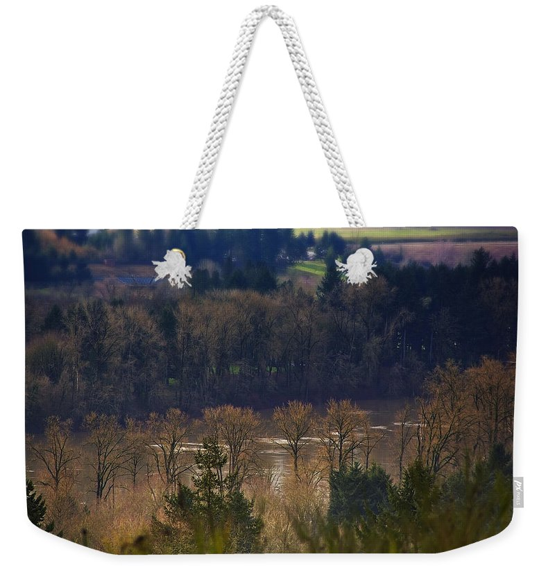 Nature Weekender Tote Bag featuring the photograph Swollen River by Belinda Greb