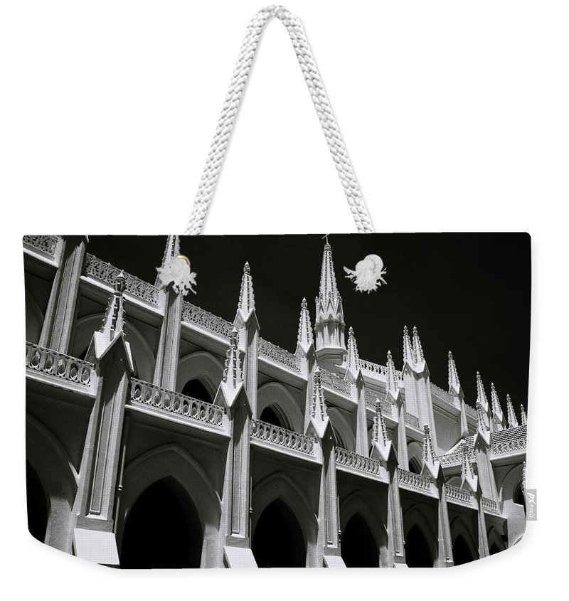 Architecture Weekender Tote Bag featuring the photograph Symmetry Spires by Shaun Higson