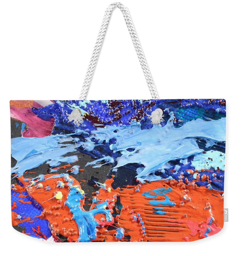 Abstract Weekender Tote Bag featuring the photograph T S 13 by David Mayeau