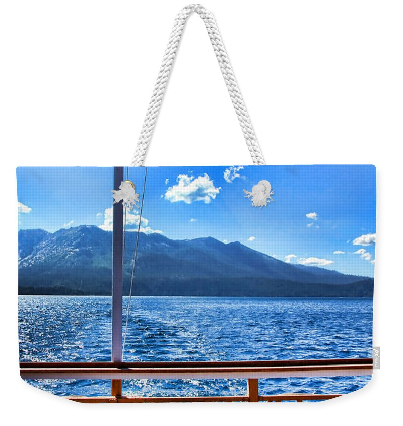 Boat Weekender Tote Bag featuring the photograph Tahoe Queen Lake Tahoe By Diana Sainz by Diana Raquel Sainz
