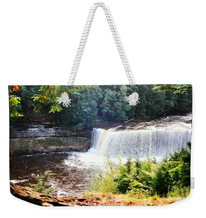 Tahquamenon Falls Weekender Tote Bag featuring the photograph Tahquamenon Falls by Lydia Holly