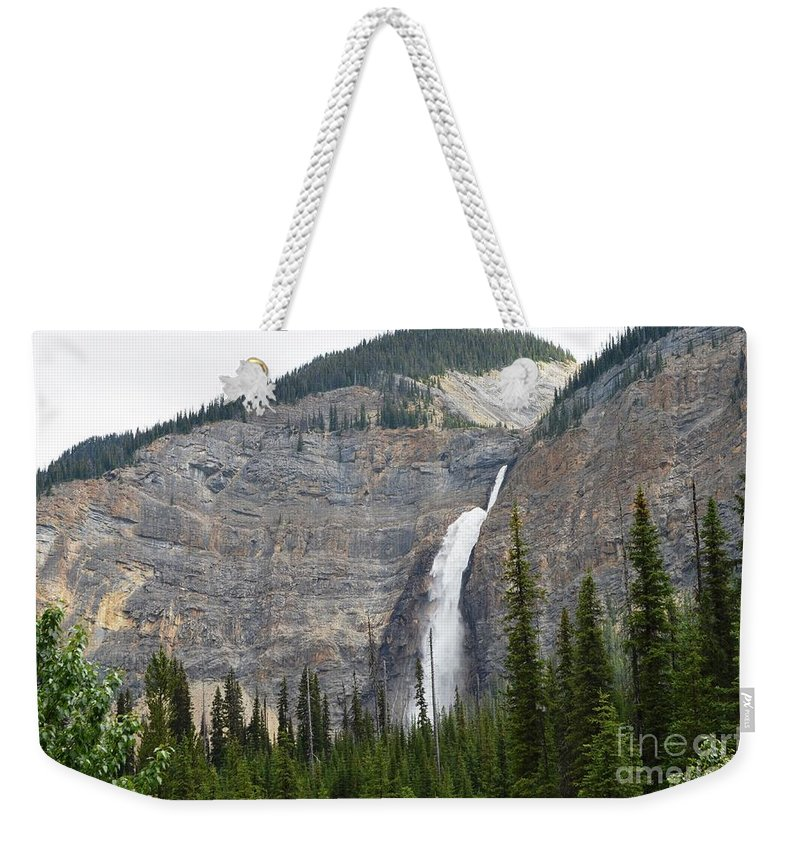 Waterfalls Weekender Tote Bag featuring the photograph Takakkaw Falls by Deanna Cagle