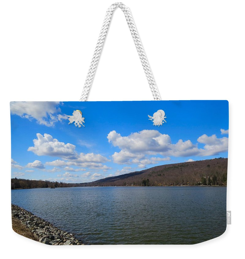 Mountain Weekender Tote Bag featuring the photograph Take It To The Limit by Art Dingo