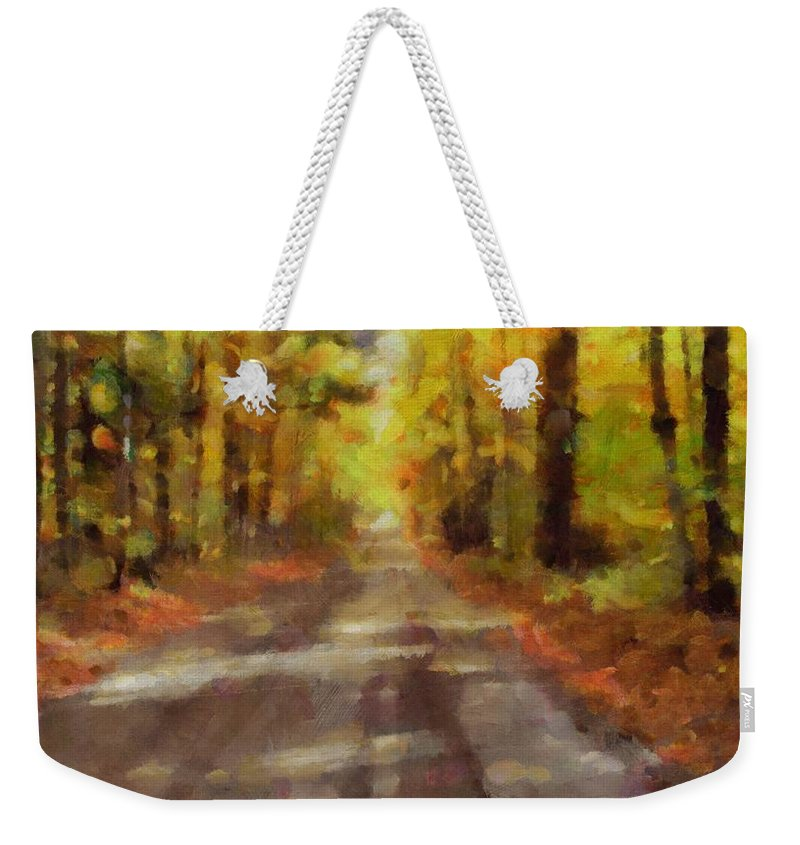 Take Me Home Country Roads Weekender Tote Bag featuring the painting Take Me Home Country Roads by Dan Sproul