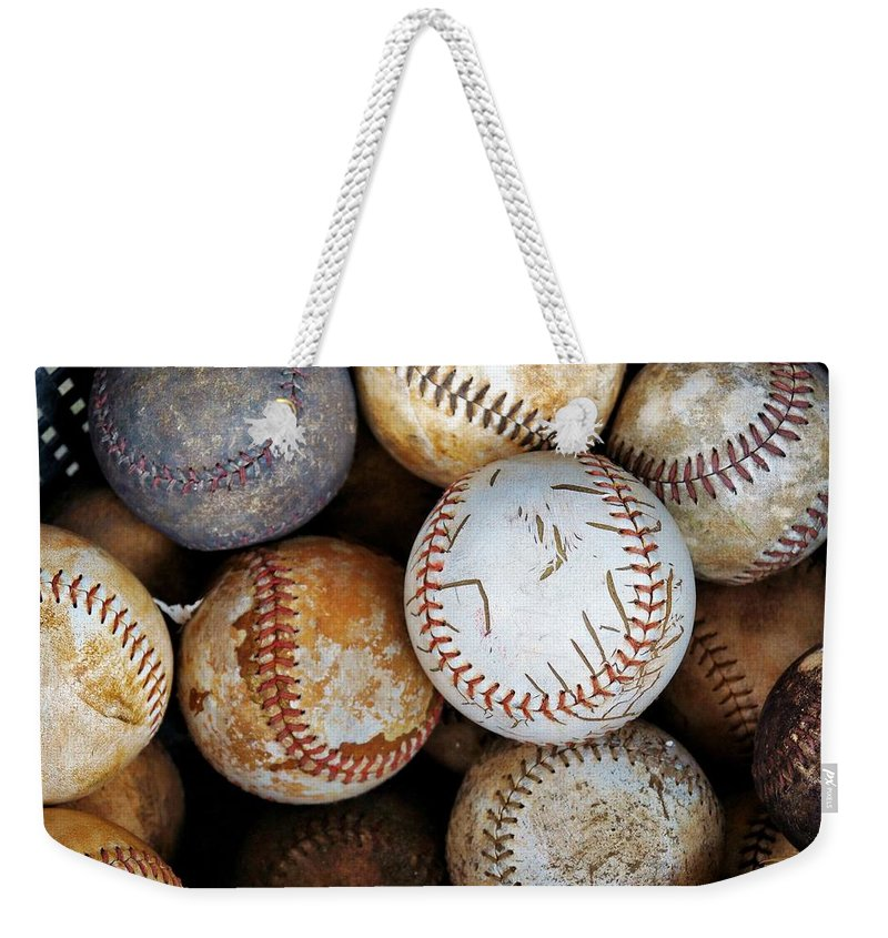 Baseball Weekender Tote Bag featuring the photograph Take Me Out To The Ball Game by Jean Goodwin Brooks