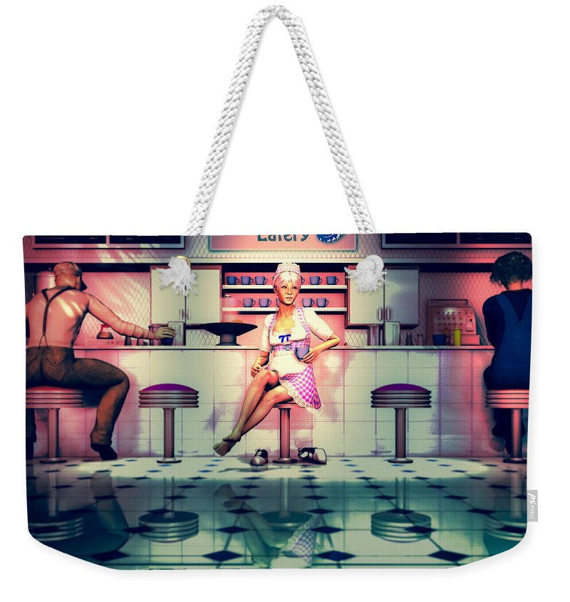 Dinner Weekender Tote Bag featuring the digital art Taking A Break by Bob Orsillo