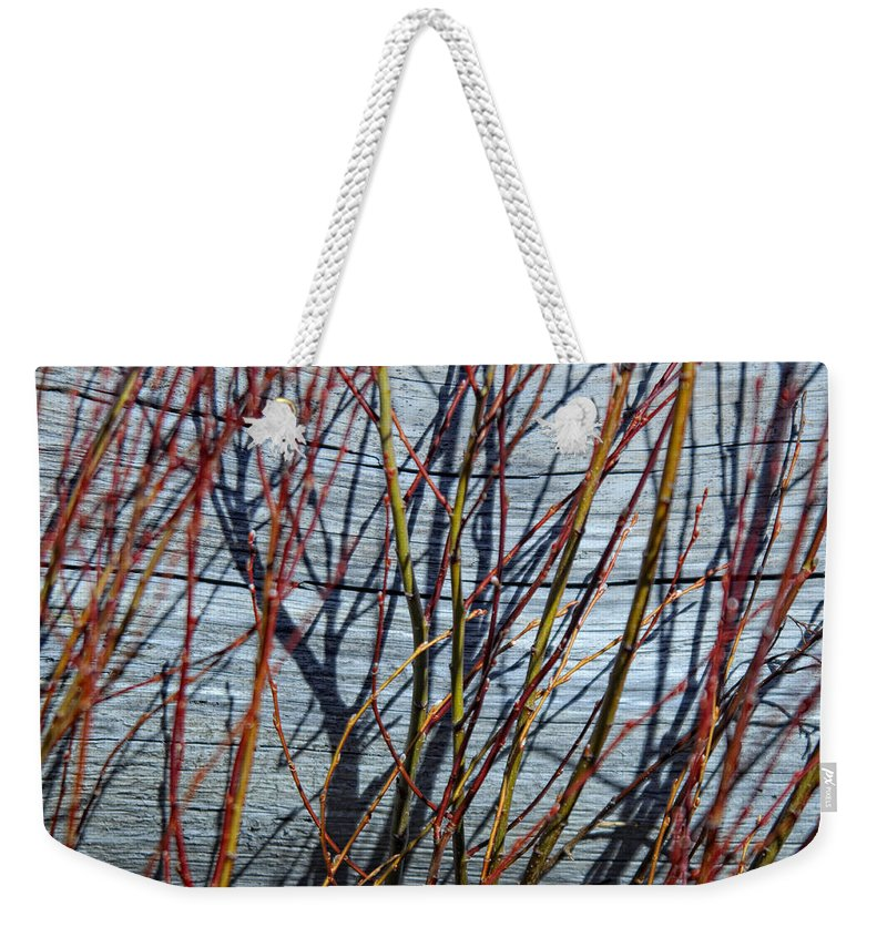 Wood Weekender Tote Bag featuring the photograph Taking Over by Donna Blackhall